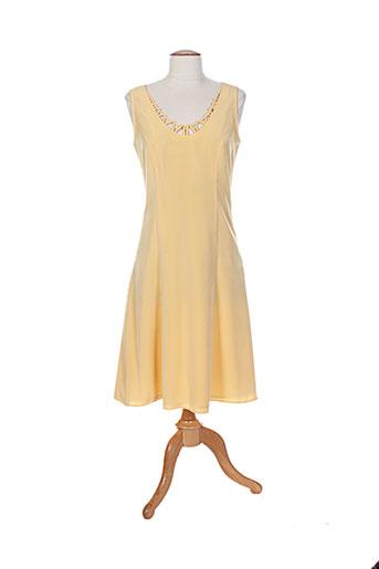 jean claire robes femme de couleur jaune