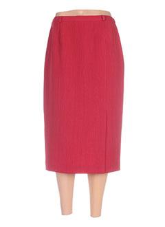 Jupe mi-longue rouge CLAUDE BAUER pour femme