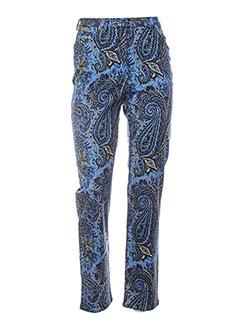 Pantalon casual bleu ANNE D'ALETH pour femme