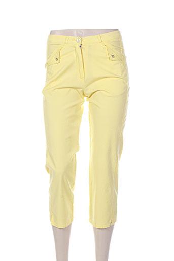 quattro pantacourts femme de couleur jaune