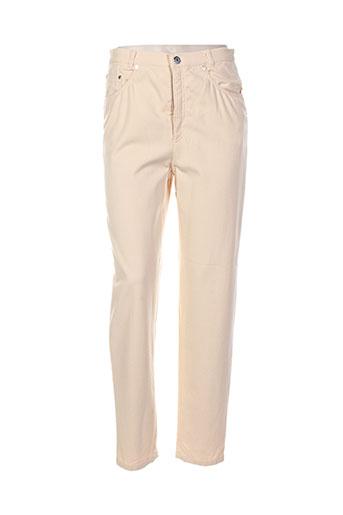 lucia pantalons femme de couleur orange