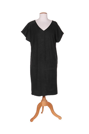 Robe courte noir ICHI pour femme