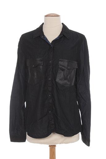cimarron chemises femme de couleur noir