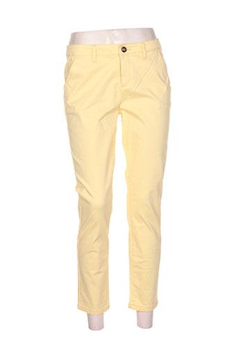 only pantalons femme de couleur jaune