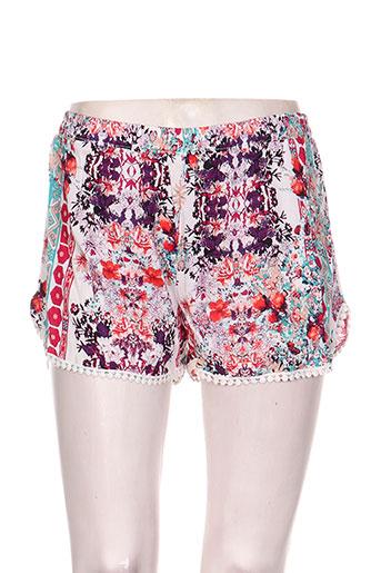 ema blue's shorts / bermudas femme de couleur rouge