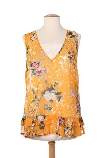 twin set chemises femme de couleur orange