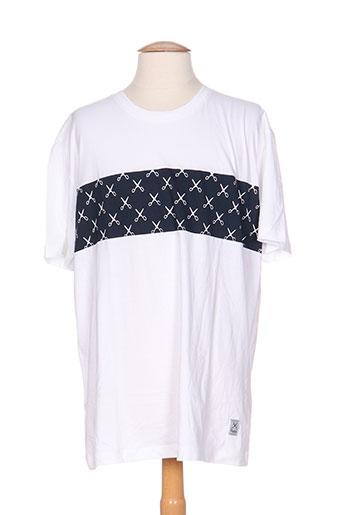 palam t-shirts homme de couleur blanc