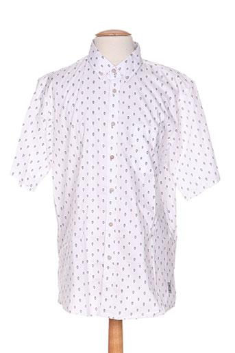 palam chemises homme de couleur blanc