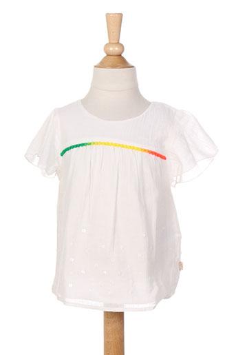 billieblush chemises fille de couleur blanc