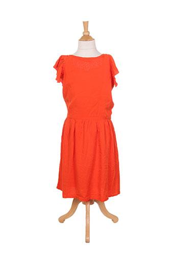 carrement beau robes fille de couleur orange