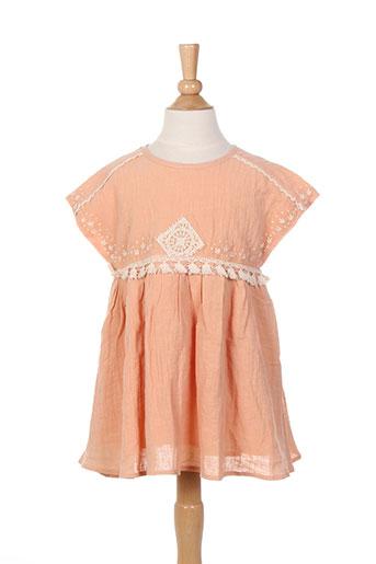 louise misha robes fille de couleur orange