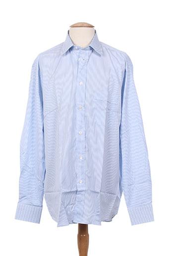alain gauthier chemises homme de couleur bleu