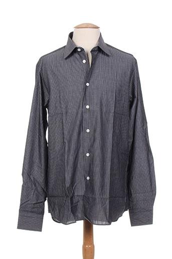 alain gauthier chemises homme de couleur gris