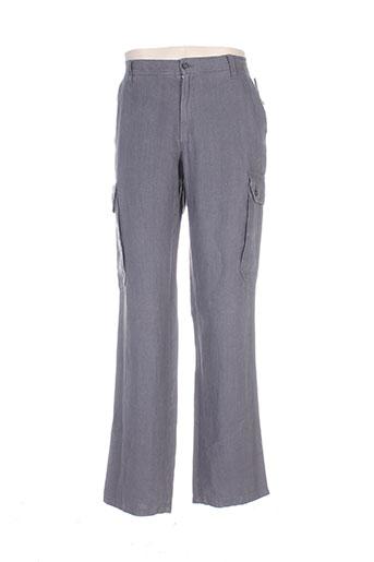olivier strelli pantalons homme de couleur gris