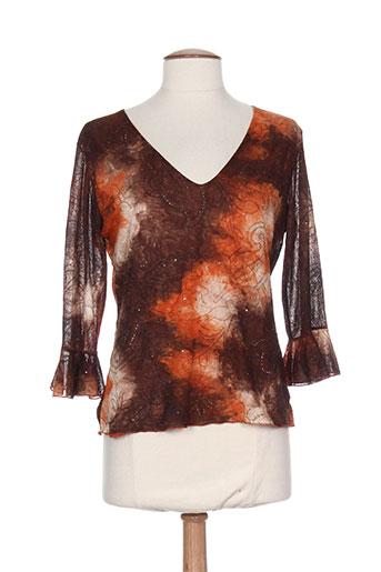 armand thierry t-shirts / tops femme de couleur orange