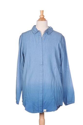 molo chemises fille de couleur bleu