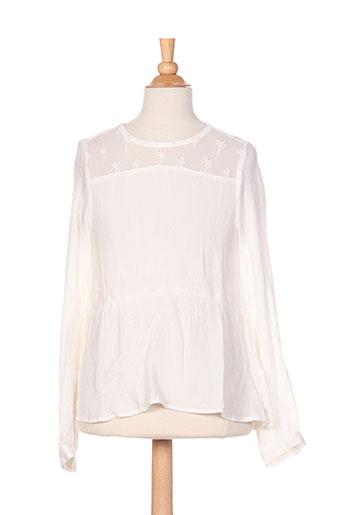garcia chemises fille de couleur blanc