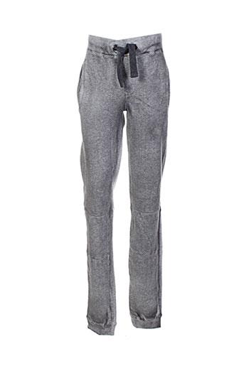 garcia pantalons fille de couleur gris
