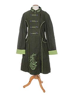 Manteau long vert BAMBOO'S pour femme