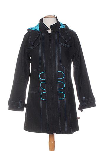 bamboo's manteaux femme de couleur bleu