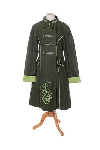 bamboo's manteaux femme de couleur vert