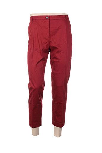 cyrillus pantacourts femme de couleur rouge