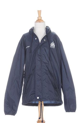 olympique de marseille manteaux garçon de couleur bleu