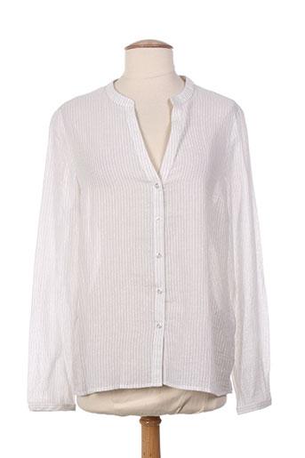 burton chemises femme de couleur blanc