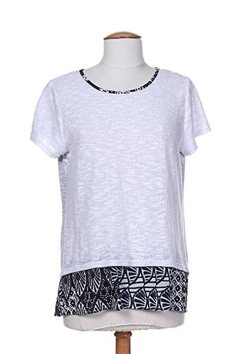 maille indigo pulls femme de couleur blanc