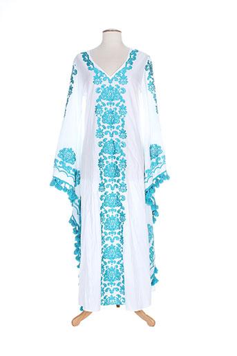 alex.max robes femme de couleur blanc