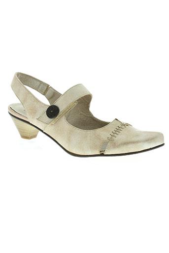 metayer chaussures femme de couleur beige