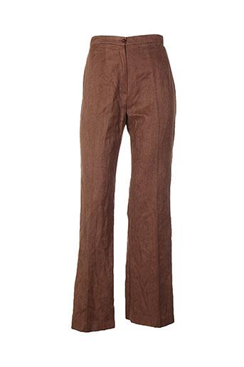 garou paris pantalons femme de couleur marron
