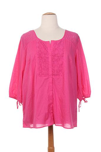 felino chemises femme de couleur rose