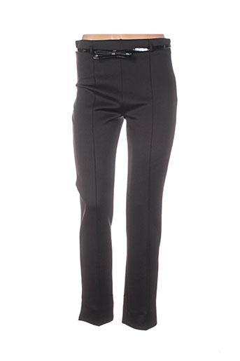 jus d'orange pantalons femme de couleur noir