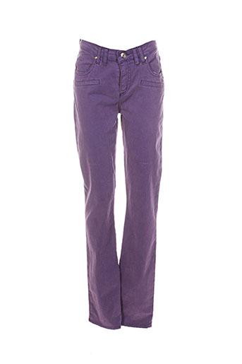 votre nom pantalons femme de couleur violet