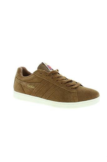 gola chaussures femme de couleur marron