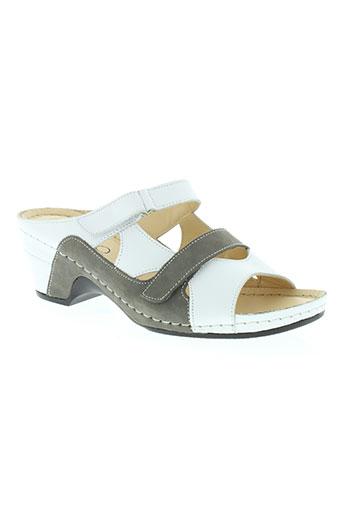 florett chaussures femme de couleur blanc
