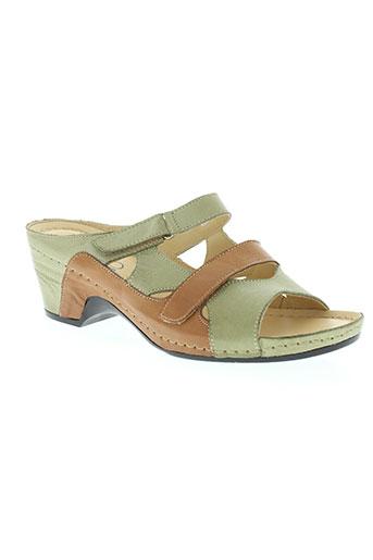 florett chaussures femme de couleur vert
