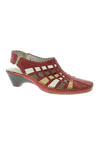 naturform chaussures femme de couleur rouge