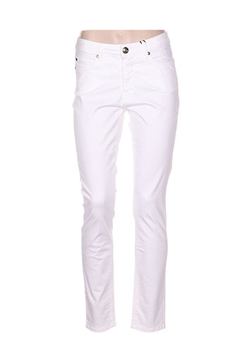 emma EFFI_CHAR_1 caro pantalons femme de couleur blanc