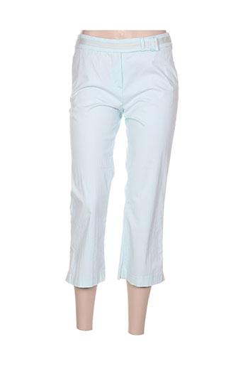 arayal pantacourts femme de couleur bleu
