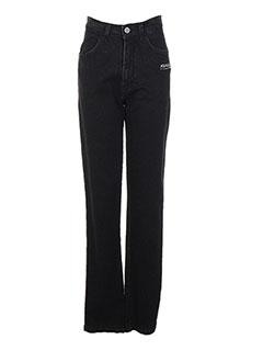 Jeans coupe droite noir AQUAJEANS pour femme