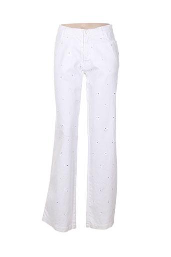 Jeans bootcut blanc AQUAJEANS pour femme