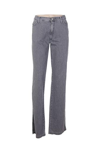 Jeans coupe droite gris AQUAJEANS pour femme