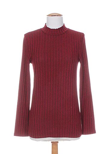 rivieres de lune t-shirts femme de couleur rouge