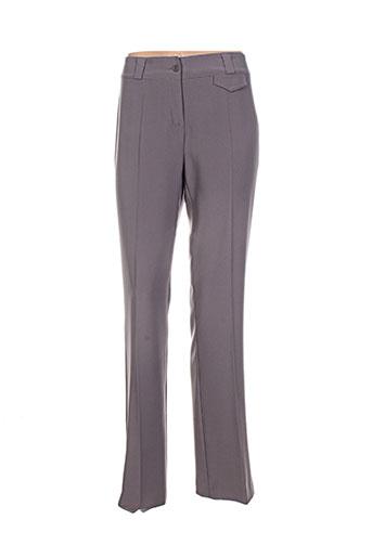 emmanueli pantalons femme de couleur marron