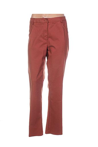 cristina pantalons femme de couleur marron