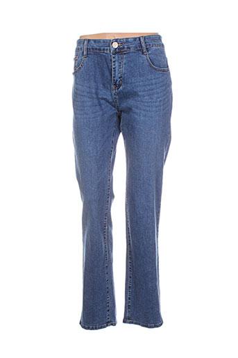 zed jeans jeans femme de couleur bleu