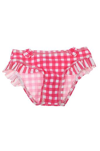 Bas de maillot de bain rose PEBBLE STONE pour fille