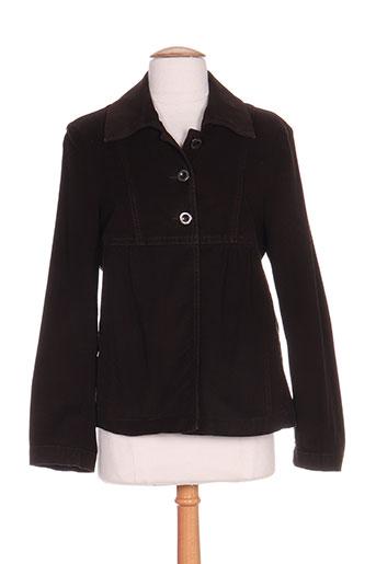 bleu de sym vestes femme de couleur marron